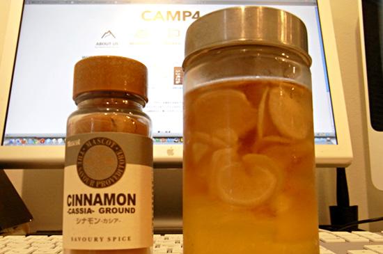 シナモンパウダーと甜菜オリゴ生姜漬け